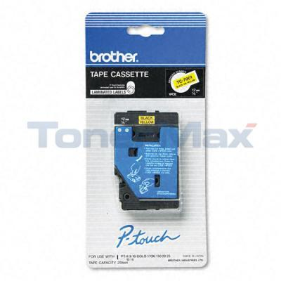 BROTHER P-TOUCH TAPE BLACK/YELLOW (1/2 X 25)